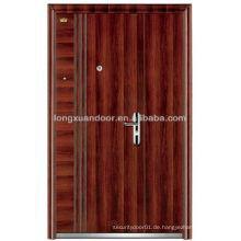Ungleiche Doppel-Blatt-Edelstahl-Sicherheitstür, Außen-Sicherheits-Eingang Stahl-Türen