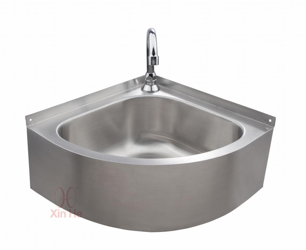Wall-mounted stainless steel sink