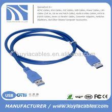 High Quality Blue USB 3.0 Stecker auf Stecker Kabelkabel PC und Mac kompatibel