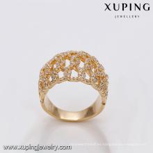 r - 7 xuping fábrica al por mayor de joyas al por mayor en guangzhou 18k anillo de moda chapado en oro para las mujeres
