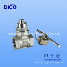 Locking Stainless Steel Gate Valve/CF8 Gate Valve with Lock