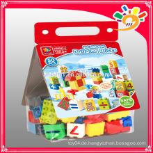 Populäre Spielzeug 50pcs Bausteine Plastik Kinder Bausteine Spielzeug