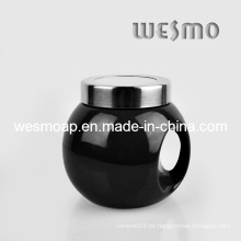 Caja de café de cerámica negra del café