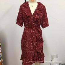 Vestido de encaje suelto con cinturón para mujer