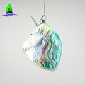Unicorn Head Ornament Glass Christmas