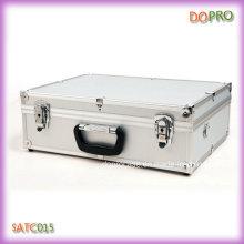 Boîte à outils en argent et porte-documents en aluminium (SATC015)