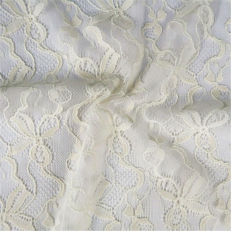 Rayon Cotton Lace Mesh Fabric