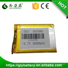 Polímero de litio 3.7V 3000mah para computadora portátil