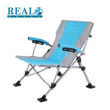 Fornecimento direto da fábrica dobrável cadeira lounge design relaxar aço cadeira dobrável