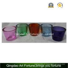 Hot Sale vidro titular Tealight com Think Wall-Small colorido