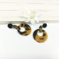 Brincos de acrílico quadrado de resina da moda para festa grandes brincos femininos ovais