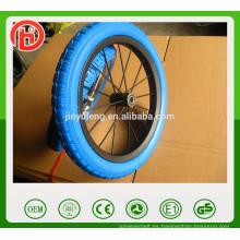 Evite la aireación pinchazo 12 '' PU rueda de espuma sólida, borde matel Rueda de bicicleta equilibrada para niños, rueda de bebé