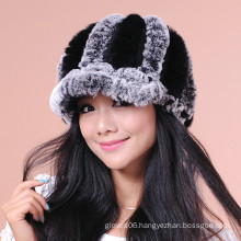 Women Winter Knitted Fur Hats/Caps