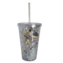 Disposable Plastic Coffee Cup With Lid And Eyedropper