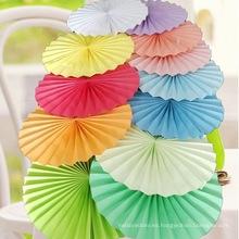 Fan de papel al por mayor de Flowerstissue de China para la decoración casera