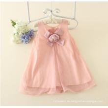 Appliqued Mädchen ein Stück Kleid Baby Mädchen Charming $ 5 rosa Sommer Baumwolle Sleeveless Floral Casual Mädchen Kleid Baby On-sale