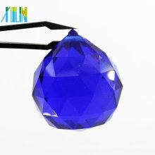 Fabrik Großhandel Zubehör Maschine Schnitt Facettierte Licht Teile Glas Kristall Kronleuchter Bälle Für Hochzeitsdekoration