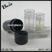 30/50/75g,deodorant container,round shape deodorant container,blue deodorant container