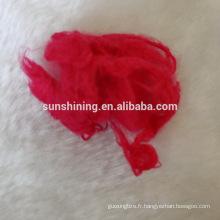 fibre discontinue en viscose blanc teintée et brute