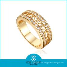 Echte Kombination Hochzeit Band Silber Ring Schmuck (R-0334)