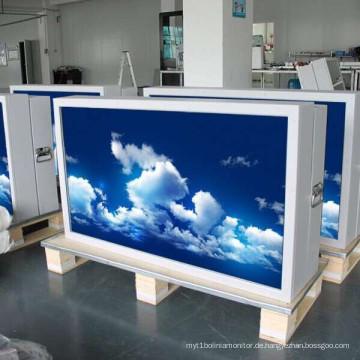 82-Zoll-freies im Freien stehendes Klimaanlagen-Sonnenlicht-lesbares wasserdichtes Digital-Beschilderung des Netzwerk-LCD