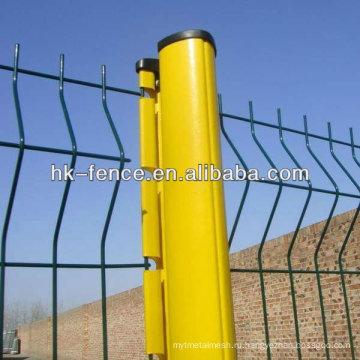ПВХ покрытием 3D Проволока сетка сад забор для сада зоны