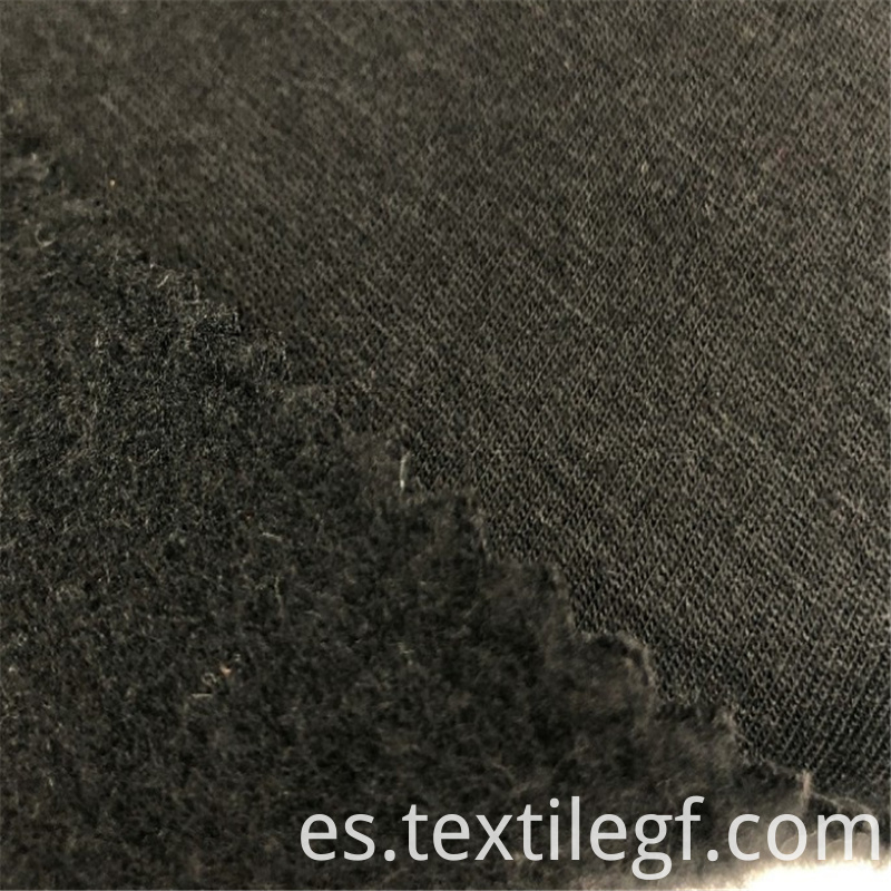 Hot sale TC French Black KnittingTerry Brushed Fabric (2)