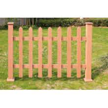 WPC imperméabilisent la barrière extérieure composée en plastique en bois de longue vie (pour le jardin, le parc, le pré ou un pâturage, basse-cour)