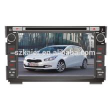 Lecteur DVD de voiture, usine directement! Quad core android pour voiture, GPS / GLONASS, OBD, SWC, wifi / 3g / 4g, BT, lien miroir pour Cee'd