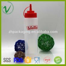 Cilindro de matéria-prima profissional cilindro espremido molho de plástico garrafa com conta-gotas