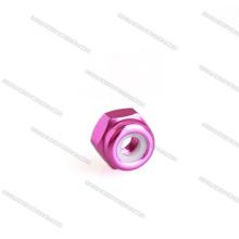 Eloxierte M3-Sechskant-Aluminium-Nyloneinsatz-Sicherungsmuttern