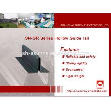 2014 caliente más alta calidad, guía de ascensor carril, carril de guía de aluminio, carriles de guía del transportador, SN-GR