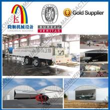 Corrugated roof machine