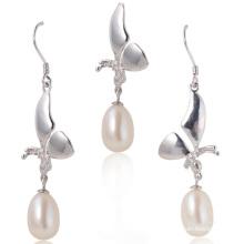 Argent avec perle d'eau douce, ensemble de perles