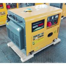 Gerador de energia diesel silencioso portátil 5kw