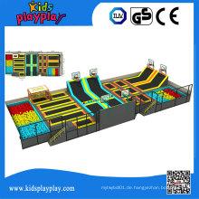 Kidsplayplay Indoor Commercial Runde Trampolin Park mit Foam Pit