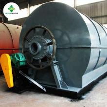 élimination des déchets en plastique à la machine à mazout