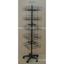 Multi Functional Metal Wire Floor Revolving Stand (PHY2035)