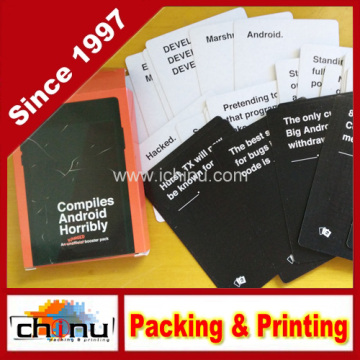 Cartões de jogo personalizados OEM (431019)