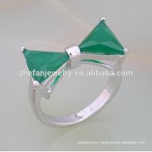 2018 Fashion brass cubic zircon triangle stone ring