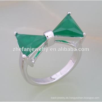 2018 Mode Messing Zirkonia Dreieck Stein Ring