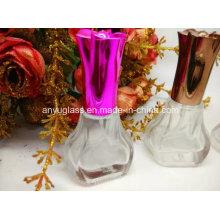 Frasco de perfume novo do vidro do projeto do estilo com tampão feito sob encomenda
