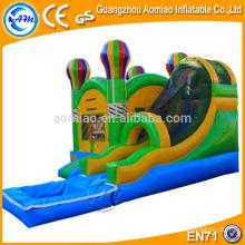 Attrayant jeu gonflable extérieur / intérieur gonflable chateau gonflable avec toboggan aquatique