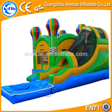 Attractive outdoor/indoor inflatable game inflatable bouncy castle with water slide