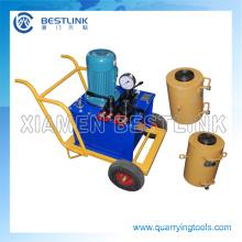 China eléctrica máquina de gato hidráulico para la explotación de canteras de granito
