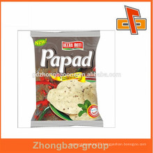 Free sample hot sale plastic heat sealable snack food bags in guangzhou