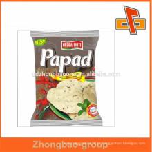 Amostra grátis de plástico quente venda sacos de alimentos selados selo snack em guangzhou