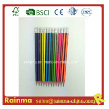 Hexagonal Strip Barrel Wooden Pencil with High Quality