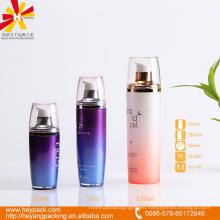 30 50 botella de bomba airless de color púrpura y rosado de 120ml para crema y esencia