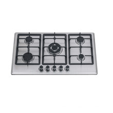 High quality stainless steel electric stove and hob  5 burners gas cooktop